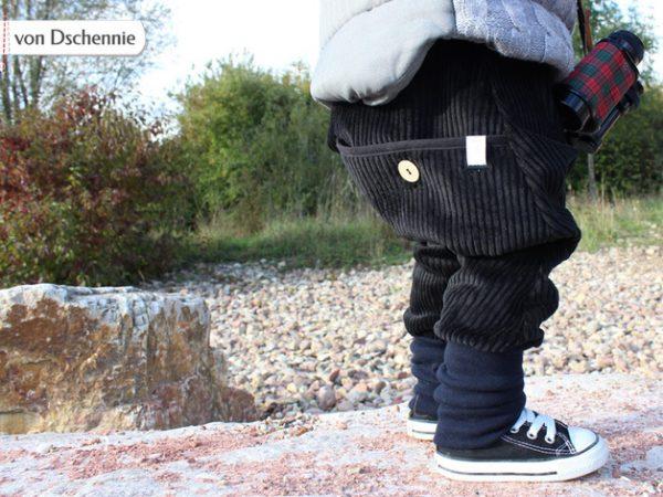 Breitcordhose schwarz