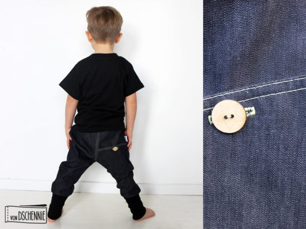 Denim Unisex Jeans-Pumphose-0