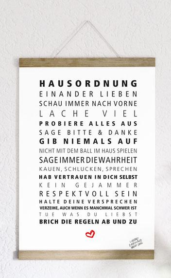 Kunstdruck Hausordnung-0