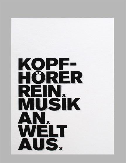 "Kunstdruck ""Kopfhörer rein...""-0"