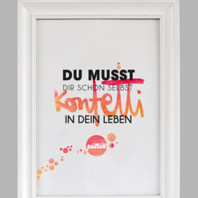 """Kunstdruck """"Konfetti""""-0"""