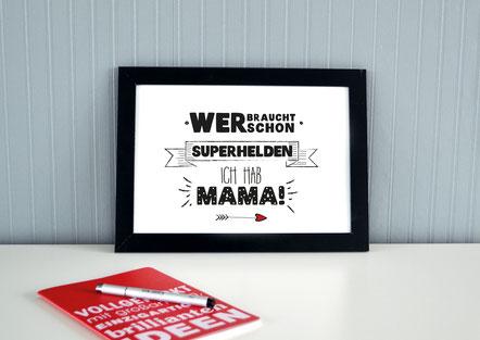 "Kunstdruck ""Superheld Mama""-0"