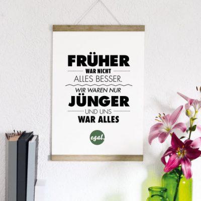 """Kunstdruck """"Früher...""""-0"""