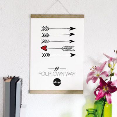 "Kunstdruck ""way""-0"