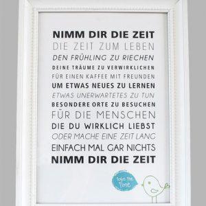 """Kunstdruck """"Zeit...""""-0"""