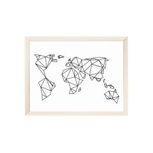 Poster - Geometrische Erde-0