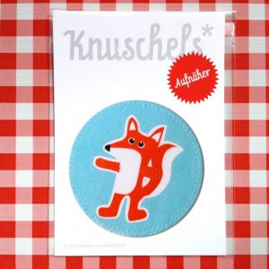 """Aufnäher """"Fuchs - rund""""-0"""