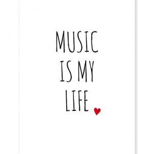 "Postkarte ""Music ist my life""-0"