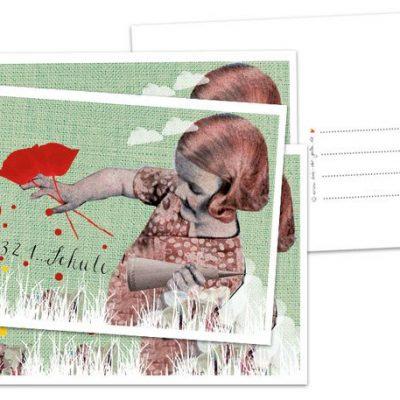 """Postkarte """"Einschulung-quer""""-0"""
