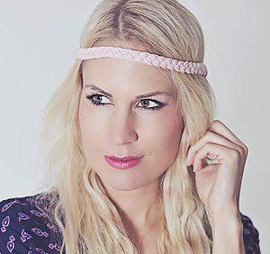 Haarband/ rosé-0