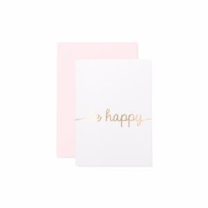 Klappkarte - be happy-0