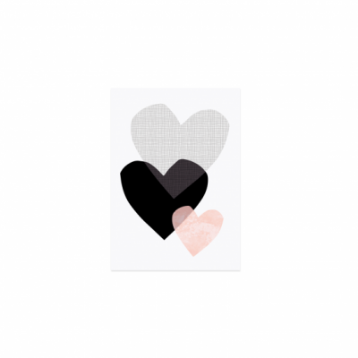 Postkarte - 3 Herzen-0