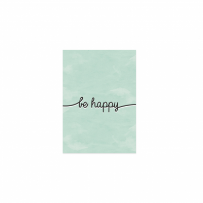 Postkarte - be happy-0