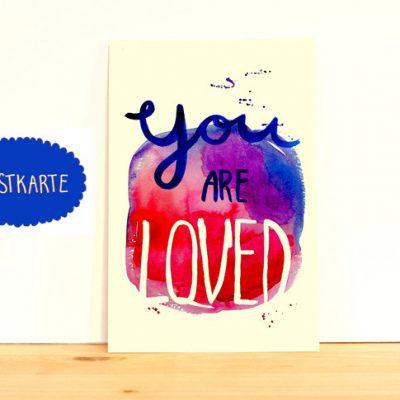 "Postkarte ""You are loved""-0"