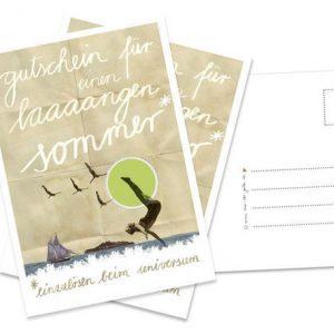 """Postkarte """"Gutschein,langen Sommer""""-0"""