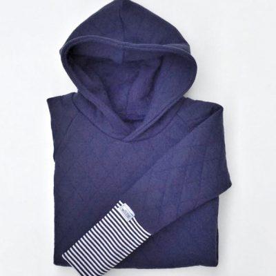 Stepphoody/ Kapuzenpullover nachtblau-0