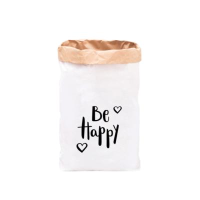"Paperbag ""be happy - schwarz""-0"