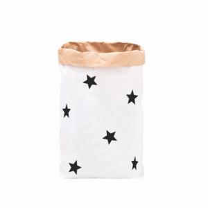 """Paperbag """"kleine Sterne - schwarz""""-0"""