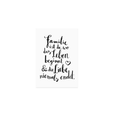 Postkarte - Familie-0