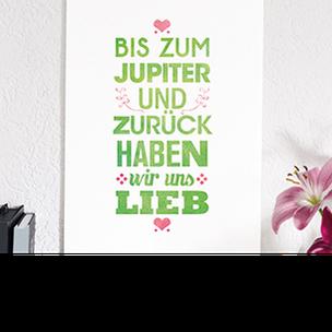 """Kunstdruck """"Bis zum Jupiter""""-0"""