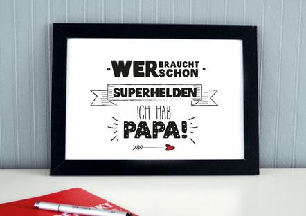 "Kunstdruck ""Superheld Papa""-0"