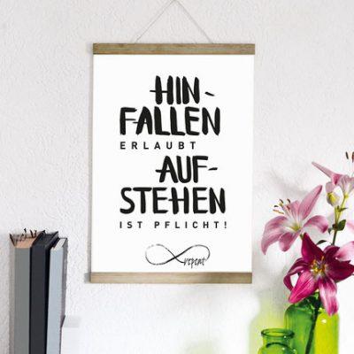 "Kunstdruck ""Hinfallen...""-0"