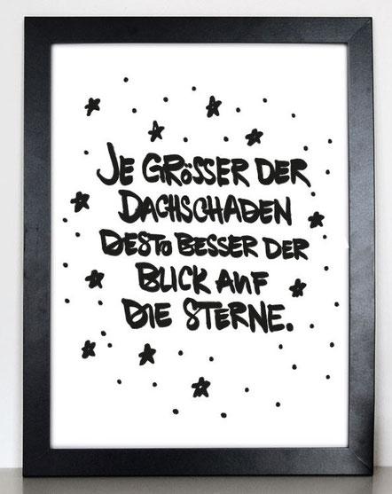 """Kunstdruck """"Dachschaden""""-0"""