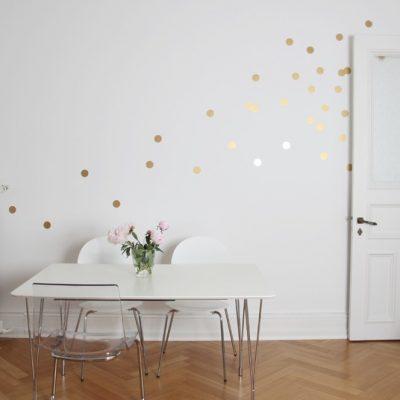Wandsticker - Dots gold-0