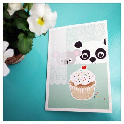 "Klappkarte ""Panda und Koala""-0"
