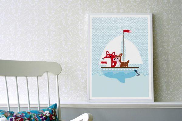 """Poster """"Fuchs und Reh""""-0"""