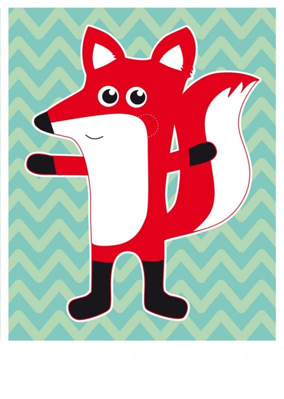 "Poster ""Fuchs""-1310"