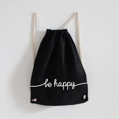Turnbeutel - be happy-0