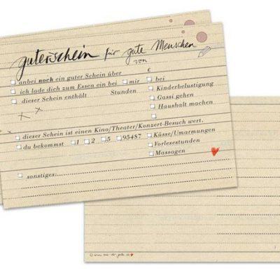 """Postkarte """"Gutschein,gute Menschen""""-0"""