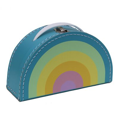 Kinderkoffer Rainbow Pastell