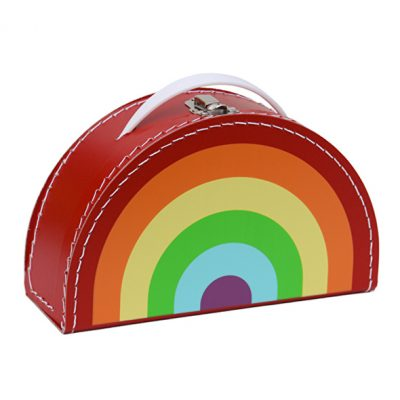 Kinderkoffer Rainbow Red