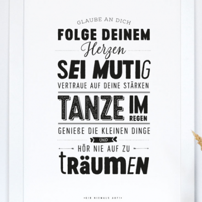"Kunstdruck ""Glaube an dich""-0"